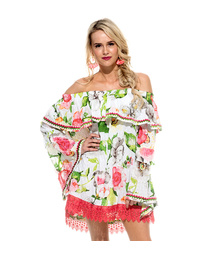 Ava Top Waterlily Print