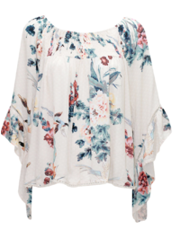 Bird and Blossom Flutter Top