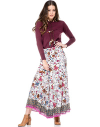Bailey Skirt Temple Print