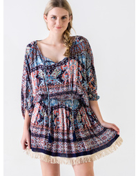 Sherry Dress Jamaica Print