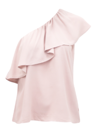 One Shoulder Top- Blush